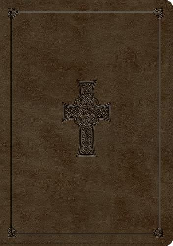 ESV Large Print Wide Margin Bible (TruTone, Olive, Celtic Cross Design) (Celtic Bible Esv Cross)