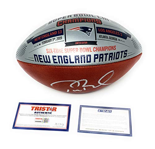 Tom Brady New England Patriots Signed Autograph NFL Authentic Super Bowl LIII Silver Duke Football Limited Edition #23/53 MADE Steiner Sports Tristar Authentic Certified -