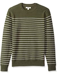 Men's Soft Cotton Striped Crewneck Sweater