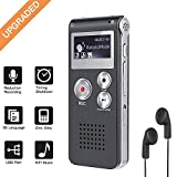 Digital Voice Recorder 8GB, Sound Recorder MP3 Player for Lectures/Meetings/Interviews/Class