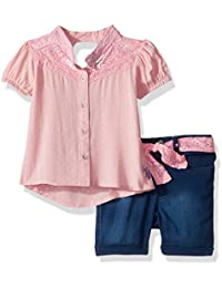Girls' Fashion Top and Short Set