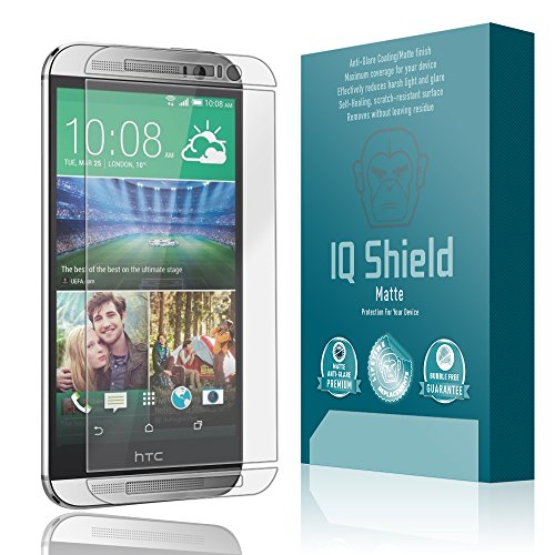 otector, IQ Shield Matte Full Coverage Anti-Glare Screen Protector for HTC One M8 (AT&T,Sprint,T-Mobile,Verizon) Bubble-Free Film - with ()