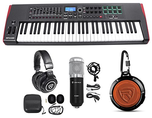 Novation IMPULSE 61-Key Ableton Live Keyboard Controller+Headphones+Speaker+Mic by Novation