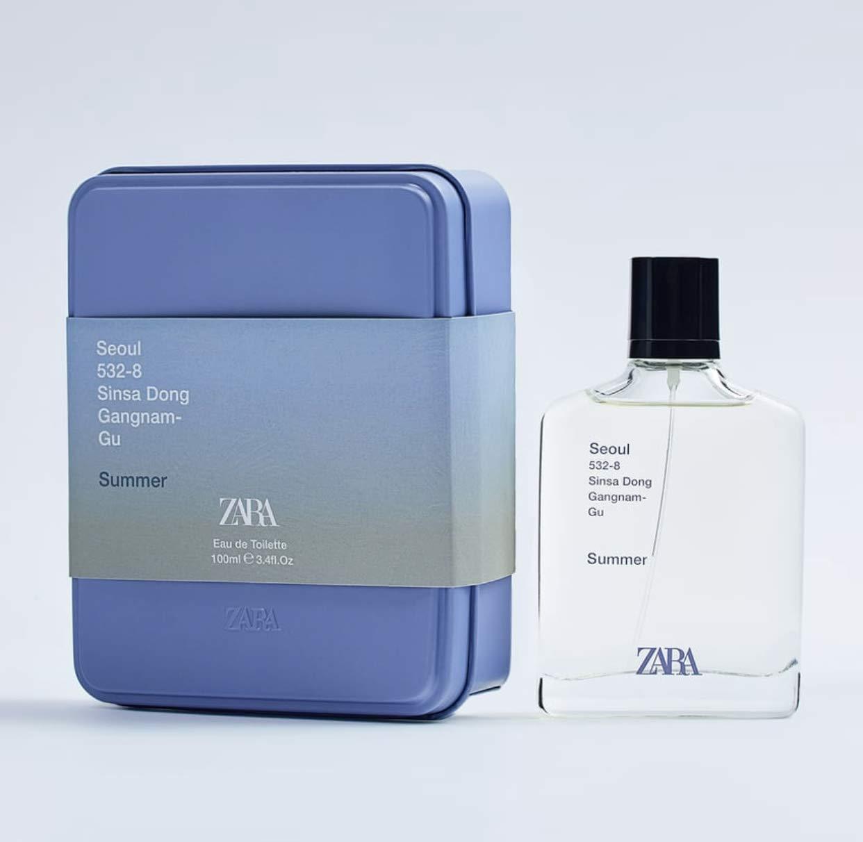 ZARA SEOUL SUMMER EDT Eau De Toilette 100 ML / 3.4 FL. OZ MEN'S FRAGRANCE/Men's Perfume/Cologne