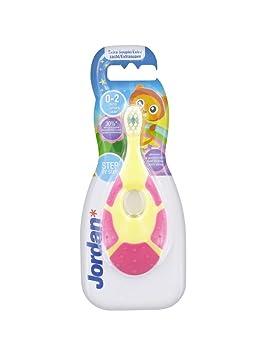 Jordan 0 - 2 años de antigüedad cepillo de dientes Suple - rosa y amarillo: Amazon.es: Salud y cuidado personal