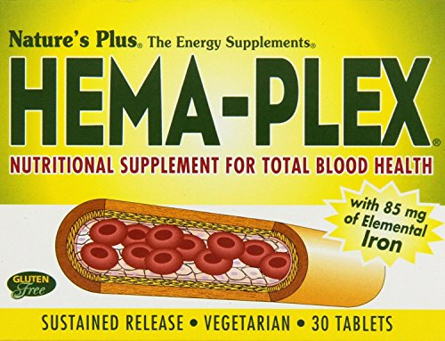 Sustained Release 30 Tablets (Nature's Plus Hema-Plex Sustained Release 30 Tablets 6PACK [Health and)