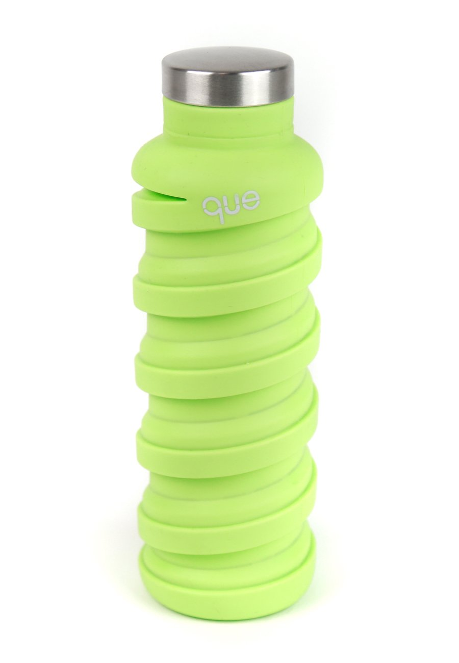 que Bottle | Designed for TRAVEL and OUTDOOR. Collapsible Water Bottle - Food-Grade Silicone / BPA Free / Lightweight / Eco-Friendly - 20oz