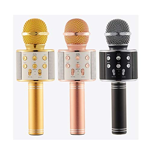 Wireless Karaoke Microphone Machine, 4 In 1 Handheld Portable Bluetooth Home KTV Player, Superior Audio Quality For Singing & Recording, Compatible With Android & IOS Wireless Bluetooth Karaoke Microp by Xiuzhifuxie (Image #3)