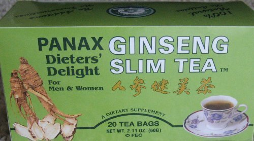 All Natural Panax Ginseng Slim Tea - 20 tea bags Dieter's Delight
