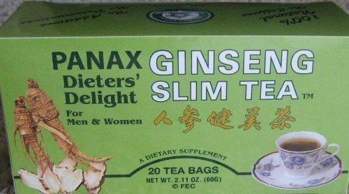 Ginseng Tea 20 Bags - All Natural Panax Ginseng Slim Tea - 20 tea bags Dieter's Delight