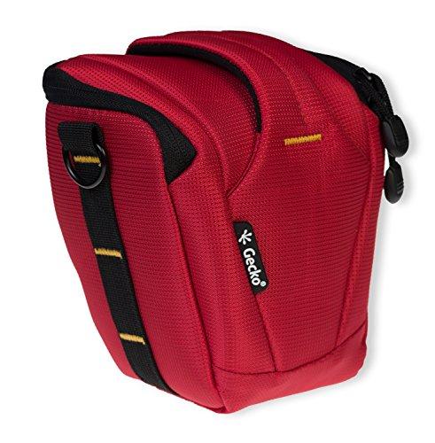 Die original GeckoCovers SLR Kameratasche Colttasche Universaltasche Medium und der Farbe rot / red - passend für DSLR Spiegelreflexkameras , Kompaktkameras , Digitalkameras z.B Panasonic Lumix DMC - G5 - Sony NEX 3N ,Sony NEX 5TL , Sony NEX 5R , Sony NEX 6 , Sony Nex 7 , Ricoh GX
