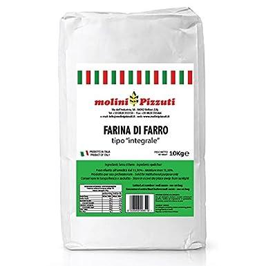 Harina integral de espelta 10 Kg - Molini Pizzuti: Amazon.es ...