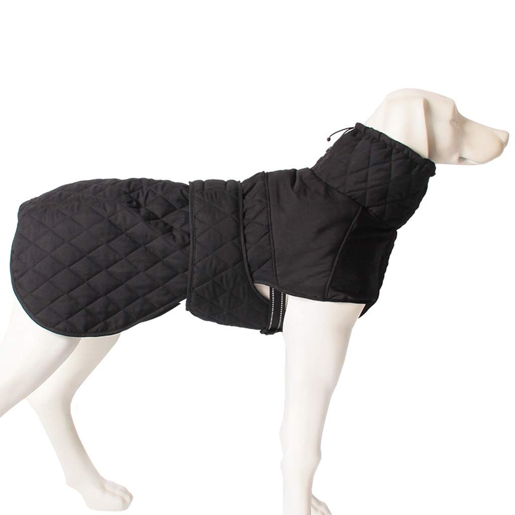 L HR Pet Dog Clothes Autumn And Winter Thickening Large Dog Coat Outdoor Cold Warm Chest Back Jacket (Size   L)