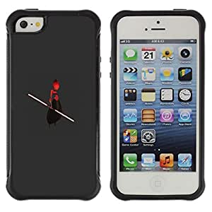 iArmor Hybrid Anti-Shock Defend Case Alien Ufo Warrior Stick Red Man Cartoon Art Apple iPhone 6 plus