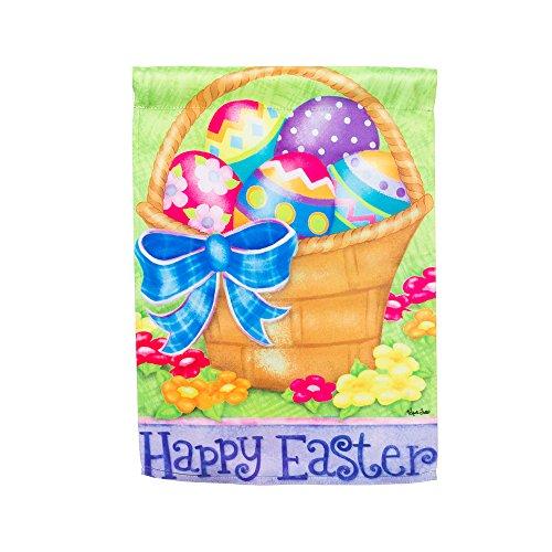 Happy Easter Basket Garden Flag Size: 18