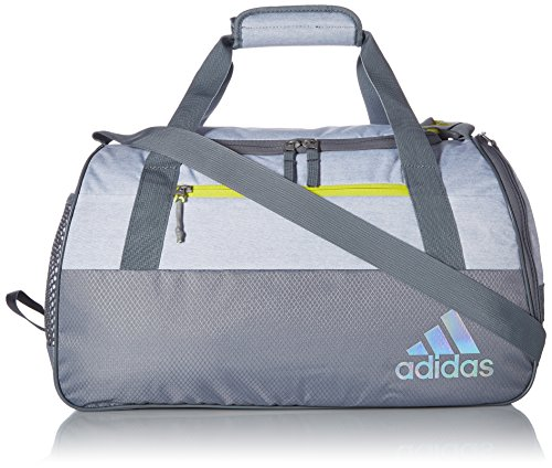 adidas Squad Duffel Bag, White Jersey/Grey/Shock Yellow, One ()
