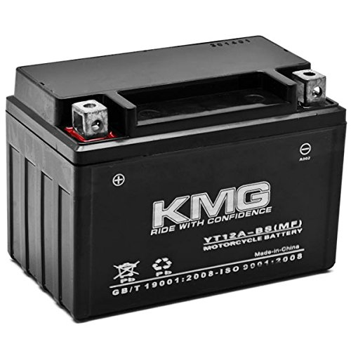 KMG Suzuki 400 AN400 Burgman 2003-2012 YT12A-BS Sealed Maintenace Free Battery High Performance 12V SMF OEM Replacement Maintenance Free Powersport Motorcycle ATV Scooter Snowmobile KMG