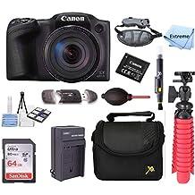 Canon PowerShot SX420 is 20MP 42x Optical Zoom Digital Camera Black + NB-11L Spare Batteries + Accessory Bundle