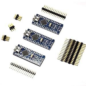 Gikfun USB Nano V3.0 ATmega328 CH340G 5V 16M Micro-controller board For Arduino (Pack of 3pcs) EK1620x3