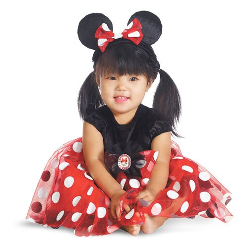 Disguise My First Disney Red Minnie Costume, Black/Red/White,