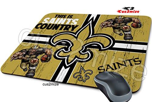 New Orleans Saints Mouse Pad New Orleans Saints Mousepad, Sold By Cus2mize 0723736677130