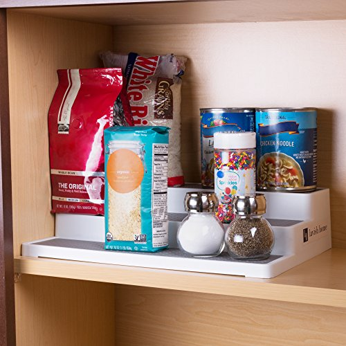 3 Tier Spice Step Shelf- Kitchen Cabinet, Countertop and Pantry Spices and Seasoning Organizer by Lavish Home (Great for Household Organization)