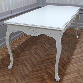 Barock Tisch In Creme Weiß Rechteckig Antik Stil LouisXV AlTa0690CrSo Antik  Stil Massivholz. Replizierte
