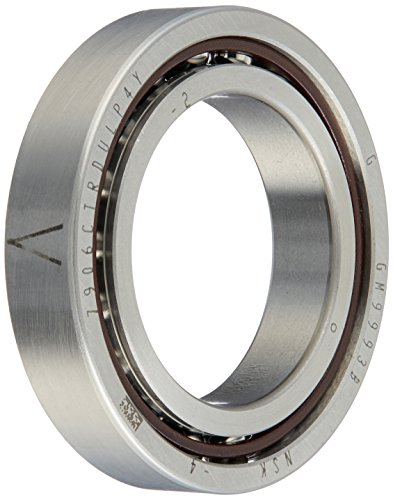 NSK 7906CTRDULP4Y Super Precision Angular Contact Bearing, 15° Contact Angle, Straight Bore, Open Enclosure, Phenolic Cage, Normal Clearance, 30mm Bore, 47mm OD, 0.354