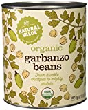 Natural Value 100% Organic Garbanzo Beans, 108 Ounce