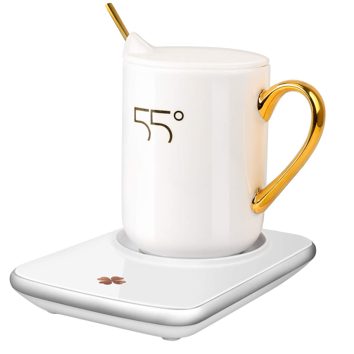 Misby Coffee Cup Warmer for Desk Rapid Heating Coffee Warmer With Auto Shut Off Switch Electric Coffee Mug Warmer With Three Adjustable Temperature Settings(122℉, 140℉, 176℉), Include Heat Conduction Cup by Misby