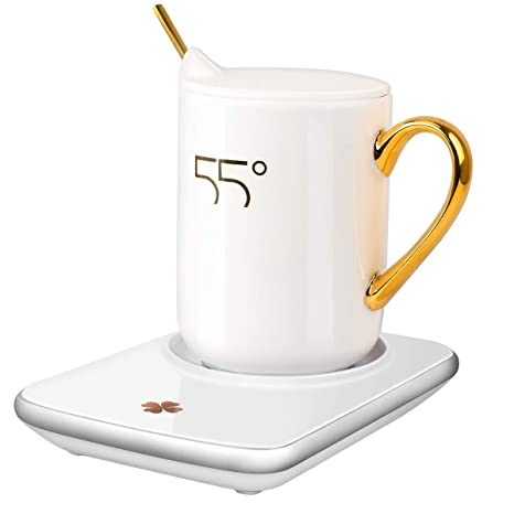 Misby Adjustable Electric Rapid Shut For With Mug Temperature Desk Coffee Switch Off Heating Cup Warmer Three Auto 3LcAj54Rq