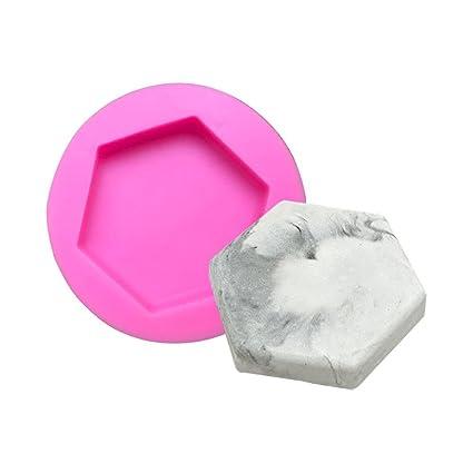 Flower205 Molde de Silicona Hexagonal aromaterapia Base Molde se Puede Utilizar para Hacer Tartas, jabones
