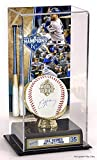 Eric Hosmer Kansas City Royals 2015 MLB World Series Champions Autographed World Series Baseball and Sublimated World Series Display Case - Fanatics Authentic Certified
