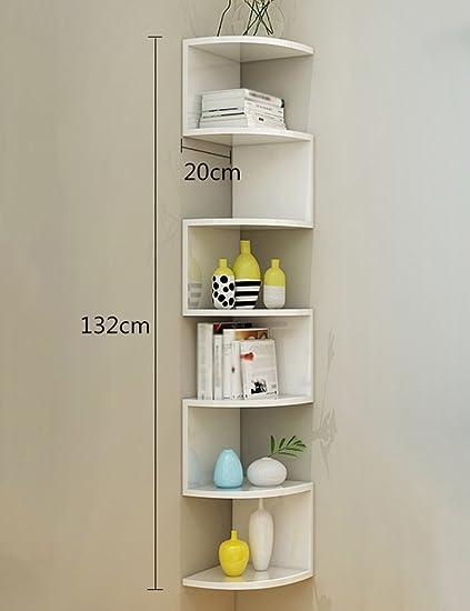 Amazon Com Shelves Corner Bookshelf Triangular Wall Partition Cd