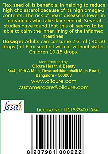 Oilcure Flax Seed Oil - 100 ml