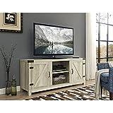 WE Furniture W58BDSDWO Barn Door TV Stand