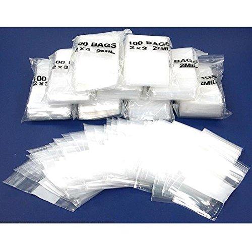 1000 Zipper Block Bag Resealable Plastic Baggies 2