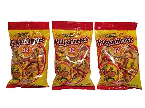Dulces De La Rosa (De La Rosa Tamarindo Mexican Candy, Pulparinroks, 32 Pieces 6.7 oz Per Pack (Pack of 3))