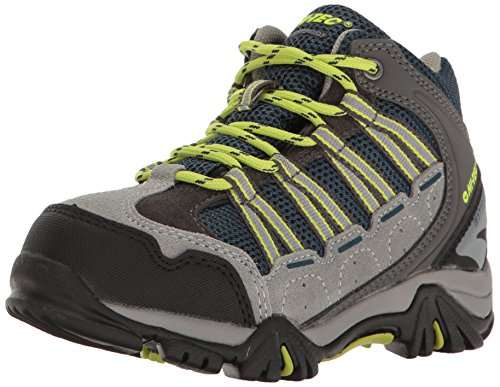 Hi-Tec Boys' Forza Mid WP Jr Hiking Boot, Cool Grey/Majolica/Limoncello, 7 M US Big Kid