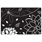 Hoffmaster Midnight Floral Paper Placemat, 10 x 15 inch -- 1000 per case.