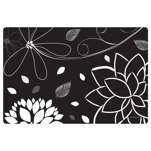 Hoffmaster Midnight Floral Paper Placemat, 10 x 15 inch -- 1000 per case. by Hoffmaster