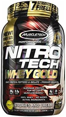 Muscletech Nitro Tech Whey Gold - 30 Serv. Chocolate