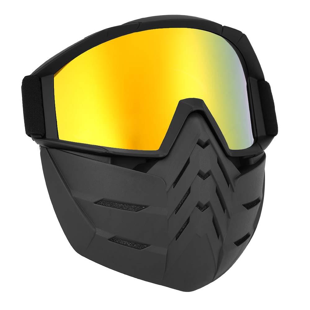 1, Tranparente Lixada Motos Gafas UVA400 Protecci/ón Invierno Esqu/í Gafas de Montar Patinaje Gafas Deportivas con M/áscara Desmontable