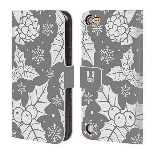 Head Case Designs Ornamenti Vacanze Dargento Collezione Cover a portafoglio in pelle per iPod Touch 5th Gen / 6th Gen