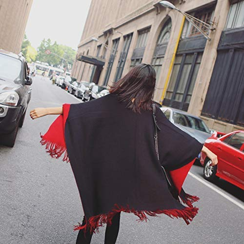 Long Scarf Europe and the United States large shawl women spring and autumn and winter solid color warm fork cloak long air conditioning scarf dualuse thickening Fashion Scarf