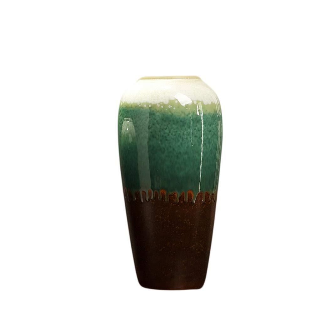 LIULIJUN 花瓶ドライフラワーセラミック装飾品リビングルームのテーブル新しい中国の装飾品フラワーアレンジメントテレビキャビネットクリエイティブフラワー (Size : M) B07T7DY97X  Medium