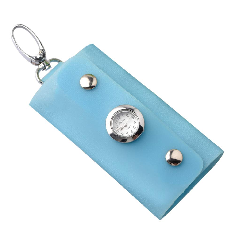 Aubess Fashion - Llavero Rectangular con Reloj, Azul Claro ...