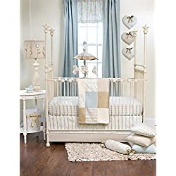 Glenna Jean 3 Piece Boy's Central Park Bedding Set, Blue/Chocolate/Tan/White