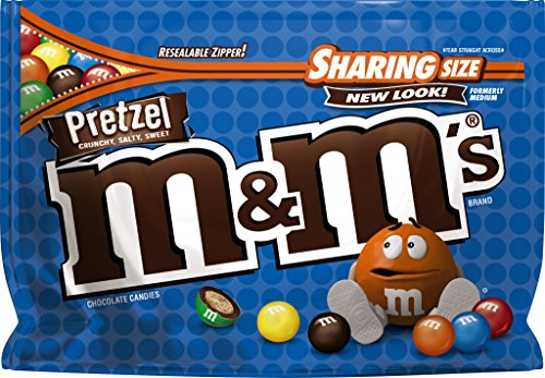 M&M'S Pretzel Chocolate Candy Sharing Size 8-Ounce Bag]()