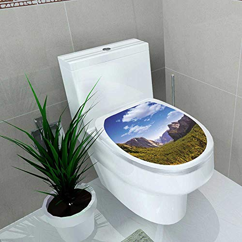 Auraise-home Vinyl Decal Yosemite el Capitan and Half Dome in California National Parks US Decoration for Bathroom Toilet W13 x L13